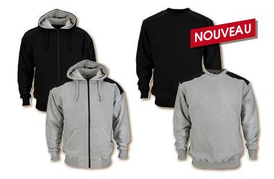 Artelli Pro-Sweater & Pro-Hoody Zipper gris et noir